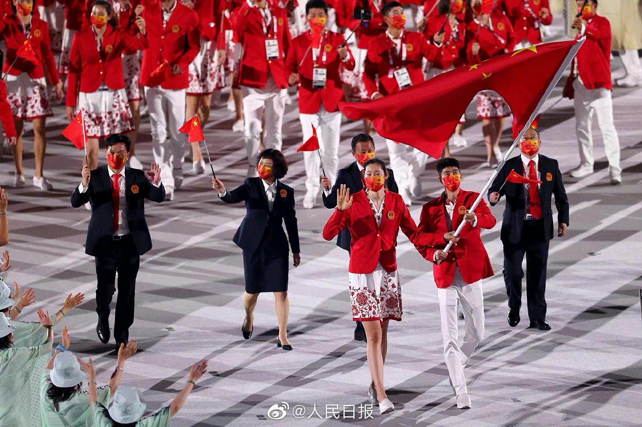 奥运团服,看中国!